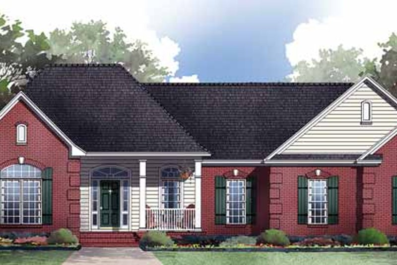 Country Exterior - Front Elevation Plan #21-414