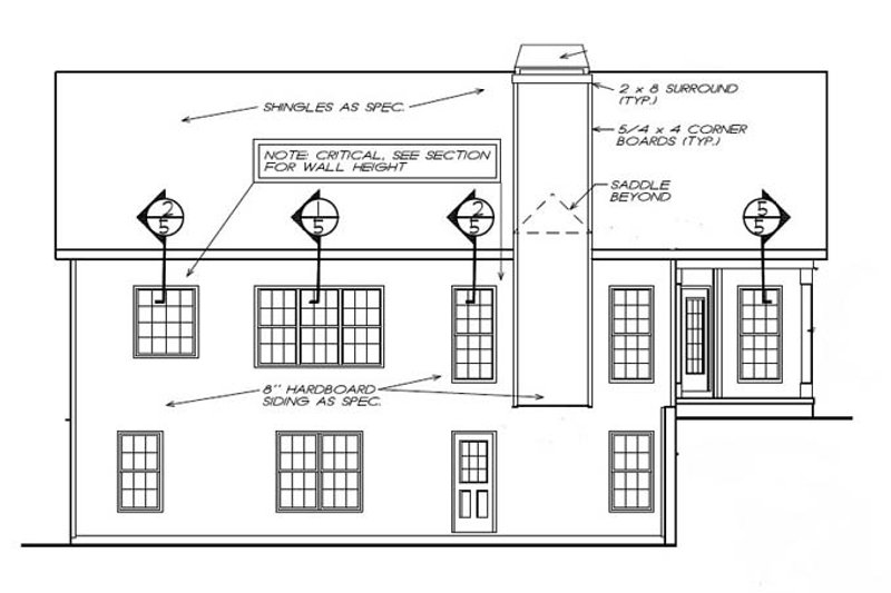 Ranch Exterior - Rear Elevation Plan #927-450 - Houseplans.com