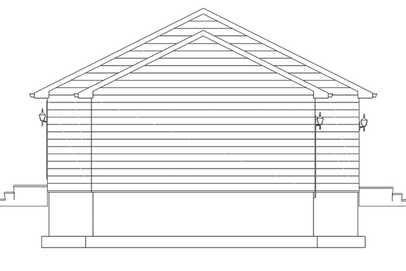 Ranch Exterior - Other Elevation Plan #1060-3 - Houseplans.com