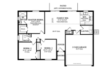 Ranch Floor Plan - Main Floor Plan Plan #1058-30