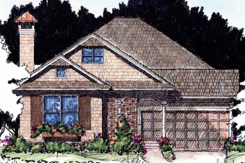 Craftsman Exterior - Front Elevation Plan #1007-59