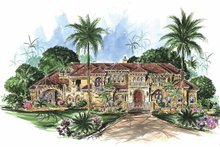 Mediterranean Exterior - Front Elevation Plan #1017-78