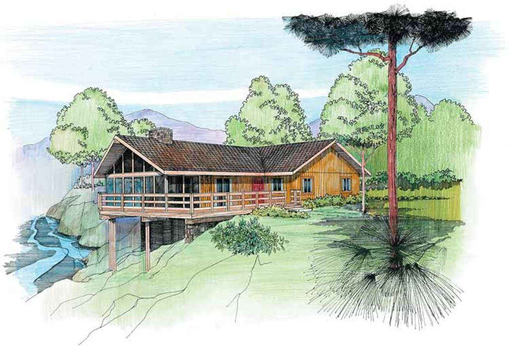 Cabin Style House Plan 4 Beds 2 Baths 1600 Sq Ft Plan 959 4 Dreamhomesource Com