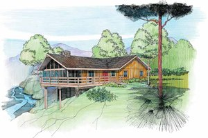 Architectural House Design - Cabin Exterior - Front Elevation Plan #959-4