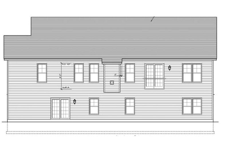 Ranch Exterior - Rear Elevation Plan #1010-70 - Houseplans.com