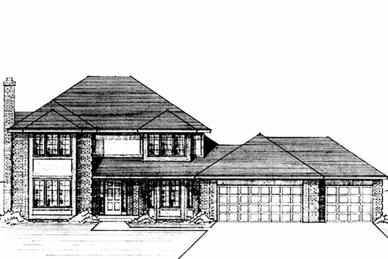 Traditional Exterior - Front Elevation Plan #51-816 - Houseplans.com