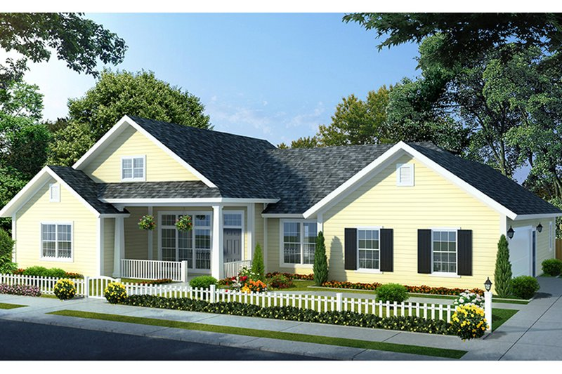 House Plan Design - Traditional Exterior - Front Elevation Plan #513-2142