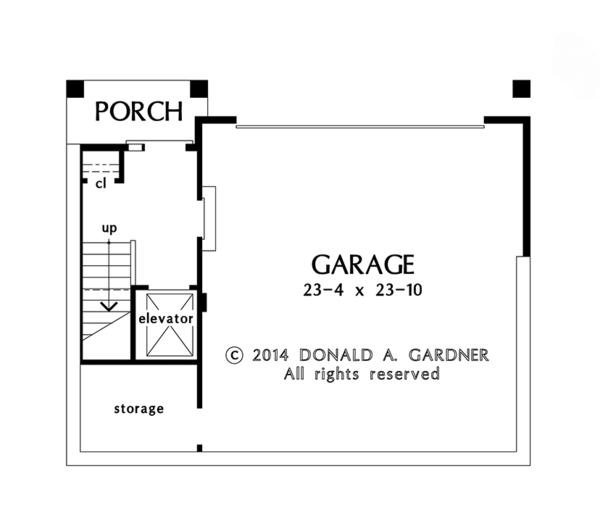 Craftsman Floor Plan - Lower Floor Plan Plan #929-986