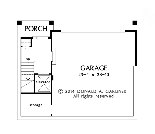 Craftsman Floor Plan - Lower Floor Plan Plan #929-986