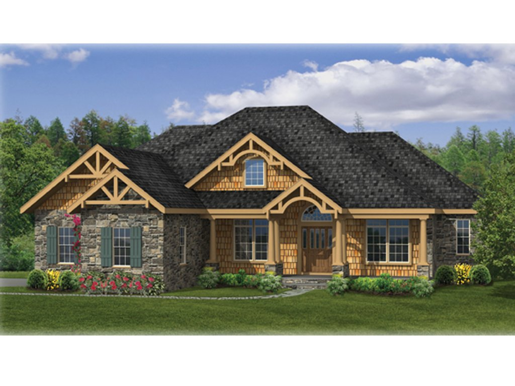 Craftsman style house plan 3 beds 2 5 baths 2233 sq ft for Breland homes floor plans