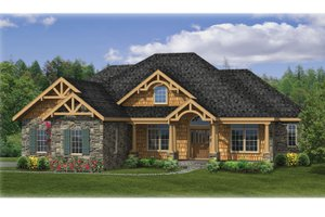 Dream House Plan - Craftsman Exterior - Front Elevation Plan #314-271