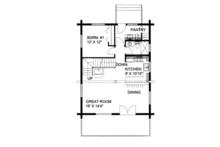 Log Floor Plan - Main Floor Plan Plan #117-821