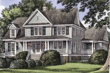 Country Exterior - Front Elevation Plan #929-502