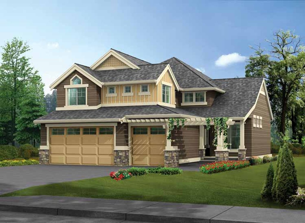 Craftsman style house plan 4 beds 2 5 baths 2510 sq ft for Www homeplans com