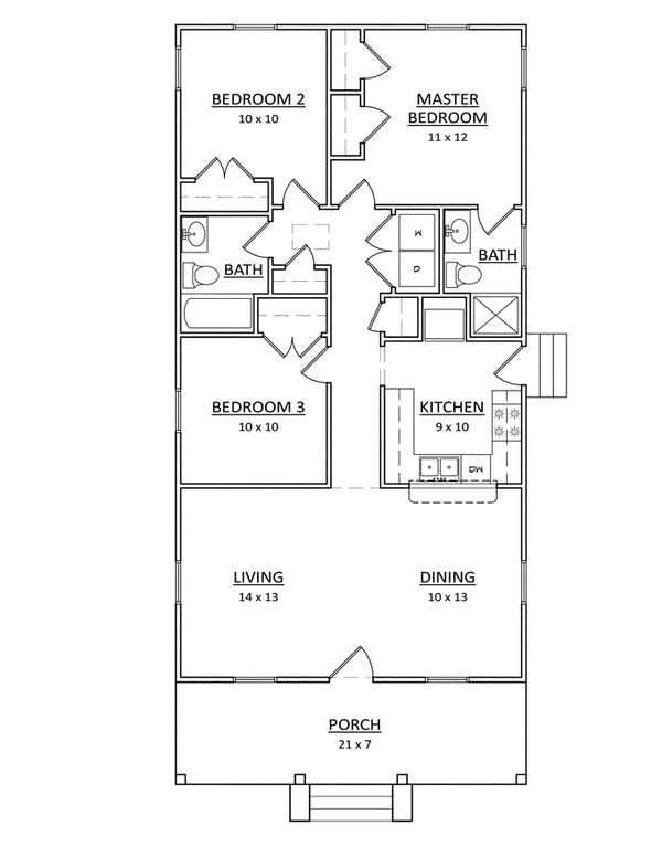 Craftsman Floor Plan - Main Floor Plan Plan #936-22