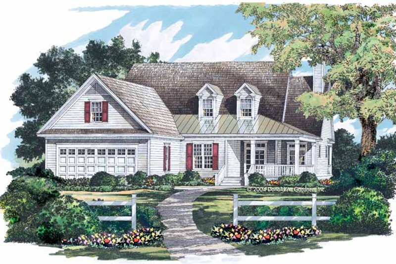 Dream House Plan - Country Exterior - Front Elevation Plan #929-711