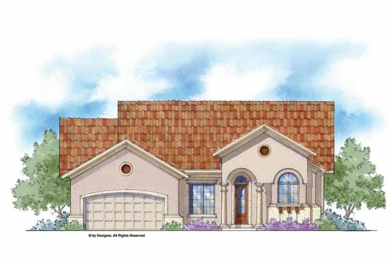 Mediterranean Exterior - Front Elevation Plan #938-36 - Houseplans.com
