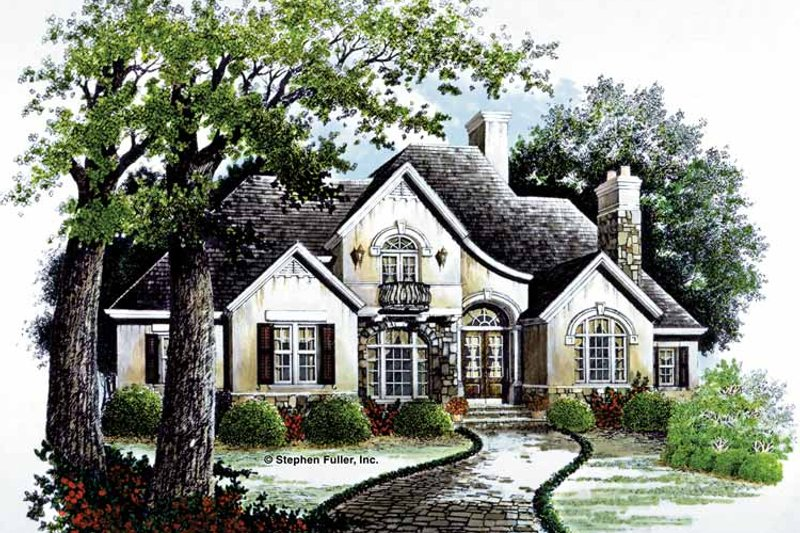 Country Exterior - Front Elevation Plan #429-63 - Houseplans.com