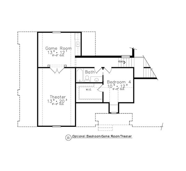 Colonial Floor Plan - Other Floor Plan Plan #417-812