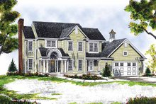 Dream House Plan - Colonial Exterior - Front Elevation Plan #70-1344