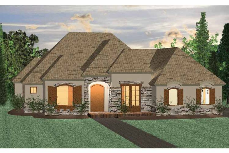 Architectural House Design - Country Exterior - Front Elevation Plan #937-27