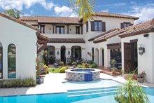 House Design - Mediterranean Exterior - Rear Elevation Plan #1058-13