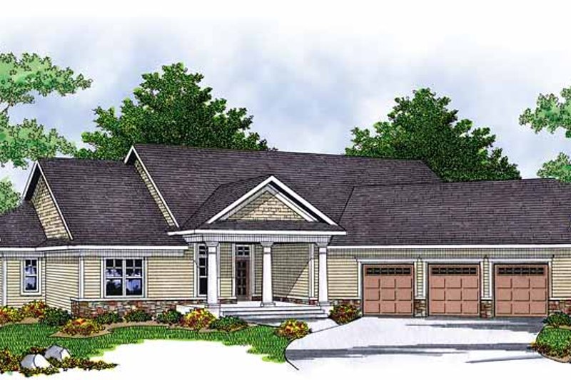 Country Exterior - Front Elevation Plan #70-1378 - Houseplans.com