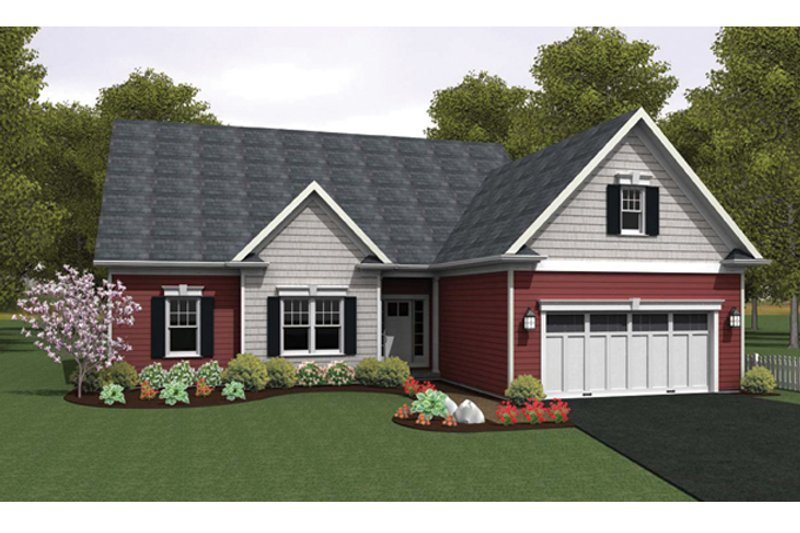 Ranch Exterior - Front Elevation Plan #1010-29