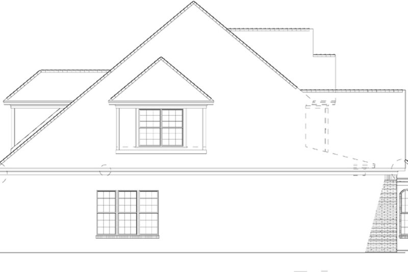Traditional Exterior - Other Elevation Plan #17-2802 - Houseplans.com