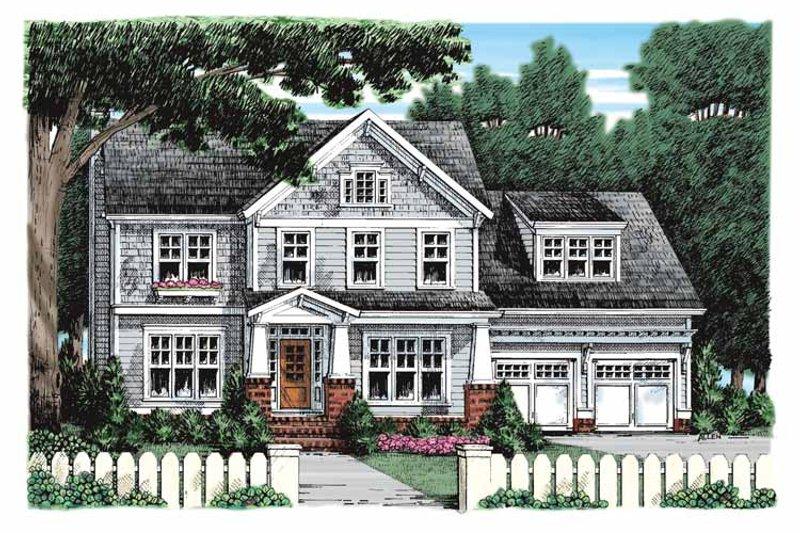 Craftsman Exterior - Front Elevation Plan #927-925