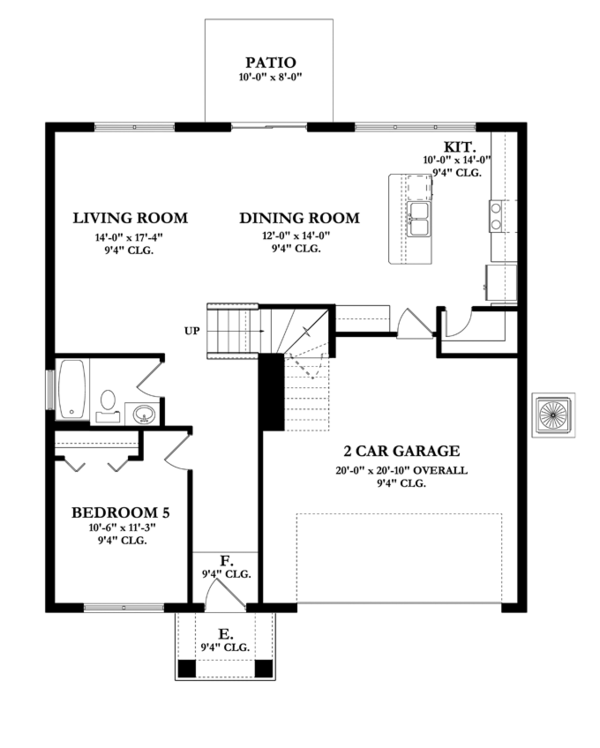 Mediterranean Floor Plan - Main Floor Plan Plan #1058-63