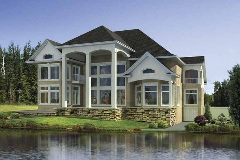 Traditional Exterior - Rear Elevation Plan #17-3309 - Houseplans.com