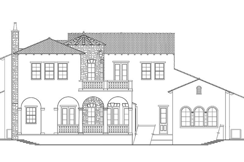 Mediterranean Exterior - Rear Elevation Plan #1058-153 - Houseplans.com