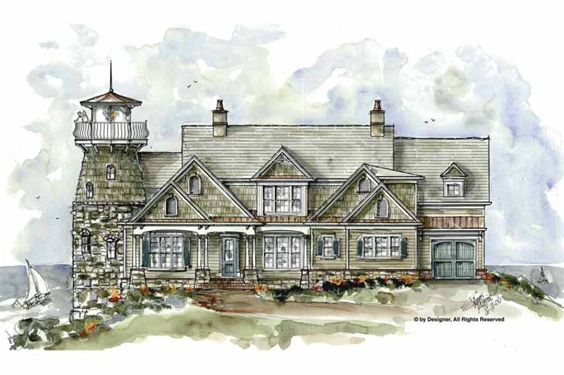 Country Exterior - Front Elevation Plan #54-327 - Houseplans.com