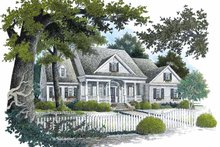 Home Plan Design - Country Exterior - Front Elevation Plan #429-298