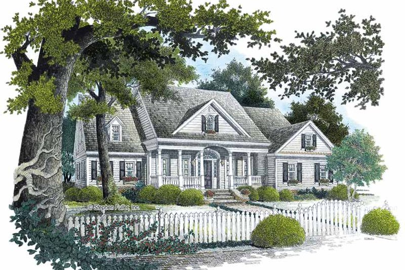 Country Exterior - Front Elevation Plan #429-298