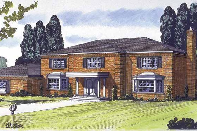 Colonial Exterior - Front Elevation Plan #320-775