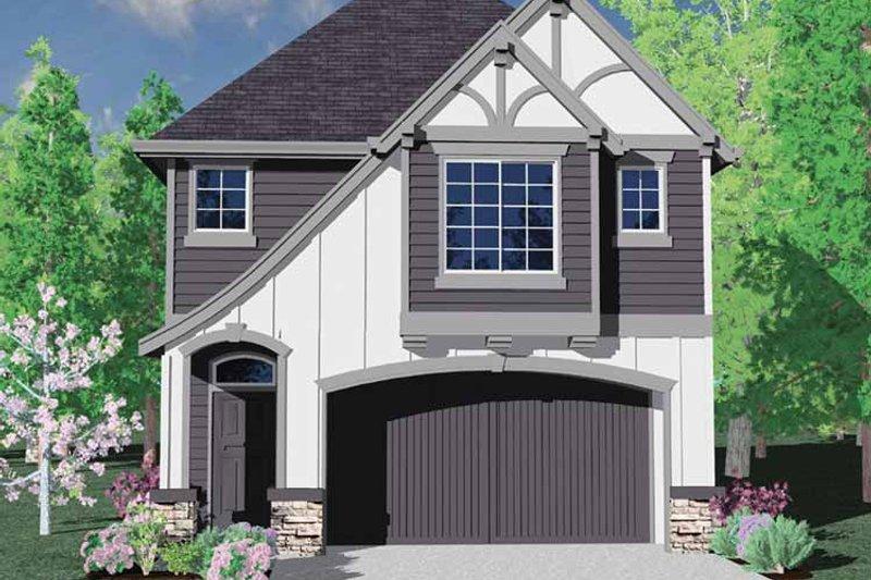 Tudor Exterior - Front Elevation Plan #509-195