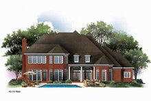 Country Exterior - Rear Elevation Plan #952-187