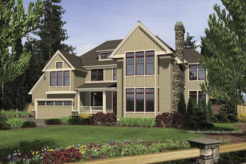 Craftsman Exterior - Front Elevation Plan #48-853