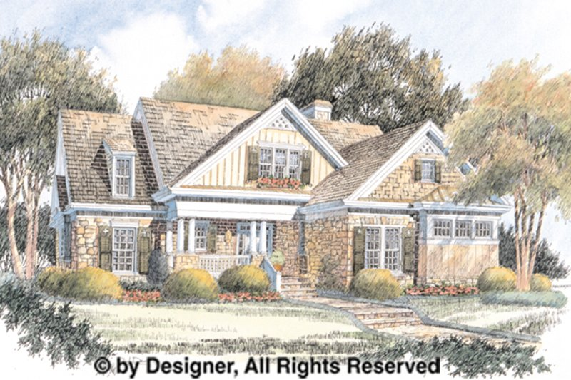 Country Exterior - Front Elevation Plan #429-368