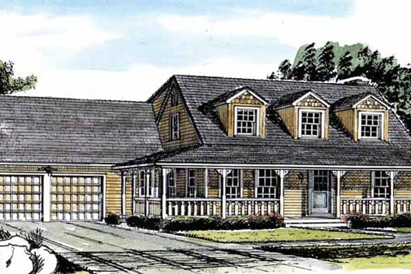 Country Exterior - Front Elevation Plan #315-116 - Houseplans.com