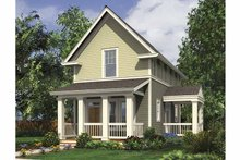 Dream House Plan - Contemporary Exterior - Front Elevation Plan #48-869