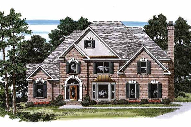Architectural House Design - Mediterranean Exterior - Front Elevation Plan #927-125
