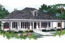 Architectural House Design - Country Exterior - Front Elevation Plan #44-202