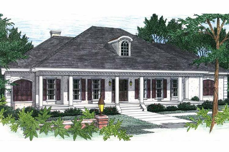 Country Exterior - Front Elevation Plan #44-202 - Houseplans.com