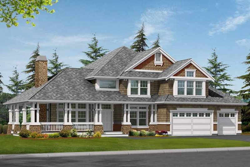 Craftsman Exterior - Front Elevation Plan #132-464 - Houseplans.com