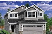Traditional Style House Plan - 3 Beds 2.5 Baths 1590 Sq/Ft Plan #943-31 Exterior - Front Elevation