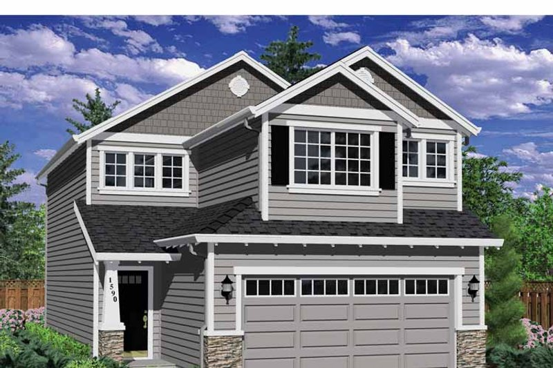 Traditional Exterior - Front Elevation Plan #943-31 - Houseplans.com