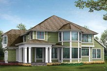 Craftsman Exterior - Rear Elevation Plan #132-458